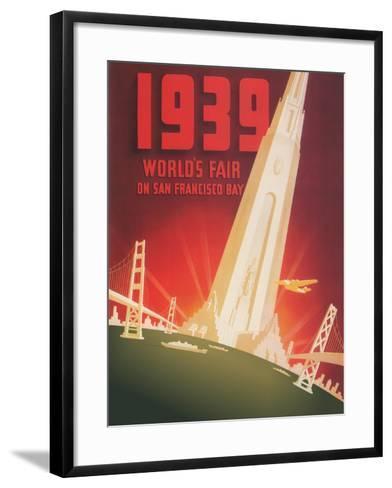 1939 World's Fair on San Francisco Bay- Shawel, Nyeland & Seavy-Framed Art Print