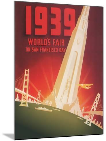 1939 World's Fair on San Francisco Bay- Shawel, Nyeland & Seavy-Mounted Giclee Print