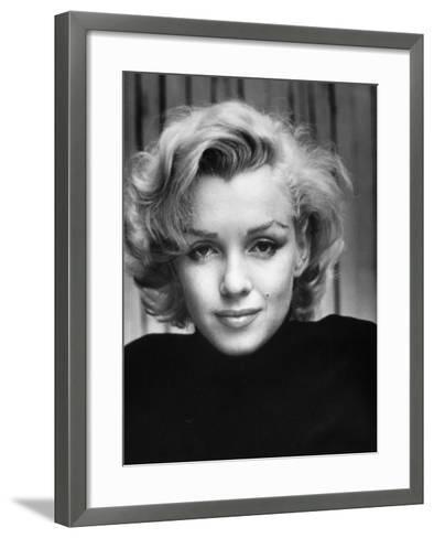 Portrait of Actress Marilyn Monroe at Home-Alfred Eisenstaedt-Framed Art Print