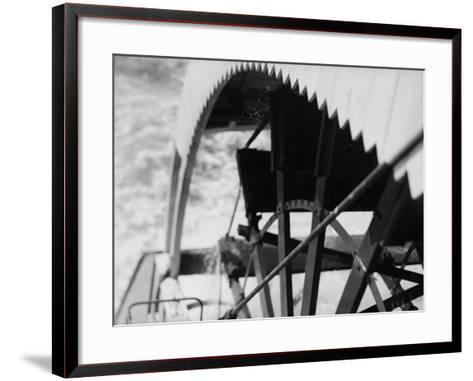 Paddle Wheel of S.S. Athabasca River-Margaret Bourke-White-Framed Art Print