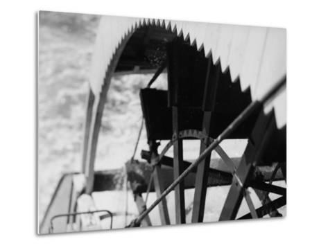 Paddle Wheel of S.S. Athabasca River-Margaret Bourke-White-Metal Print