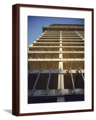 Construction of the Seagram's Building Designed by Architect Mies Van Der Rohe-Frank Scherschel-Framed Art Print