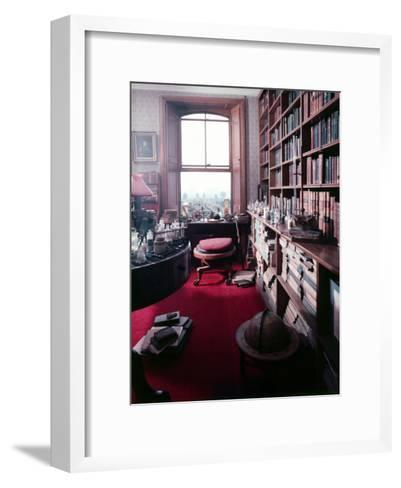 Library Study of Famed Naturalist Charles Darwin-Mark Kauffman-Framed Art Print
