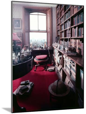 Library Study of Famed Naturalist Charles Darwin-Mark Kauffman-Mounted Photographic Print