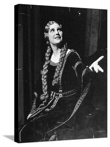 Singer Kirsten Flagstad Appearing in the Opera, Tristan and Isolde-Paul Dorsey-Stretched Canvas Print