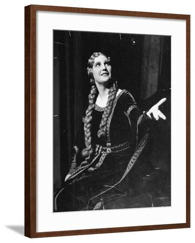 Singer Kirsten Flagstad Appearing in the Opera, Tristan and Isolde-Paul Dorsey-Framed Art Print