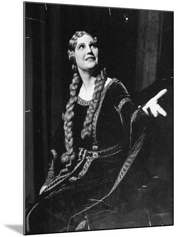 Singer Kirsten Flagstad Appearing in the Opera, Tristan and Isolde-Paul Dorsey-Mounted Premium Photographic Print