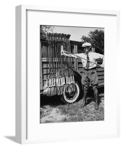 Polo Player Checking the Mallets-Alfred Eisenstaedt-Framed Art Print