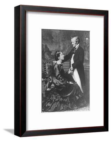 German Composer and Poet Richard Wagner, 1813-1883, with Second Wife Cosima--Framed Art Print
