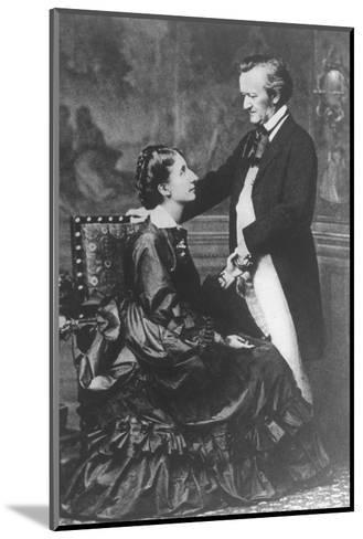 German Composer and Poet Richard Wagner, 1813-1883, with Second Wife Cosima--Mounted Photographic Print