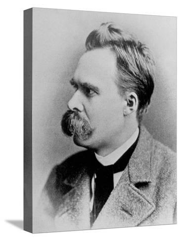 German Philosopher Friedrich Nietzsche, Posing at the Time of His Writing, 1844-1900--Stretched Canvas Print