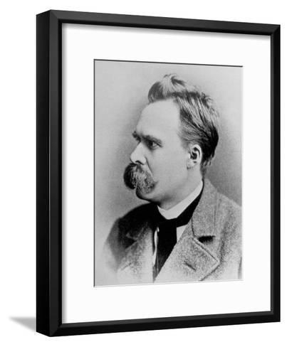 German Philosopher Friedrich Nietzsche, Posing at the Time of His Writing, 1844-1900--Framed Art Print