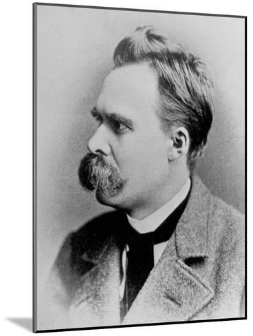 German Philosopher Friedrich Nietzsche, Posing at the Time of His Writing, 1844-1900--Mounted Photographic Print