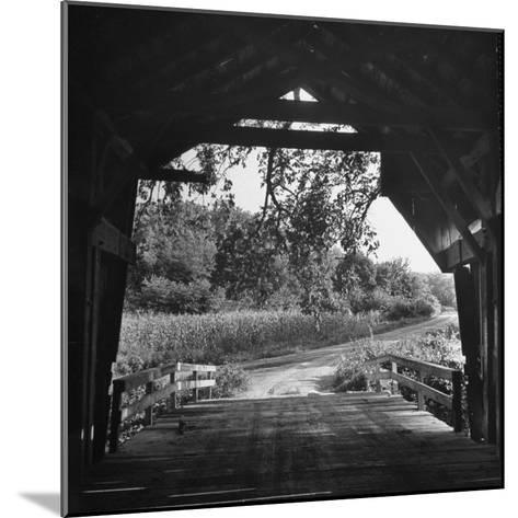 Covered Bridge Entrance Way-Bob Landry-Mounted Photographic Print
