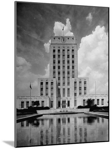 Exterior of City Hall in Houston-Dmitri Kessel-Mounted Photographic Print