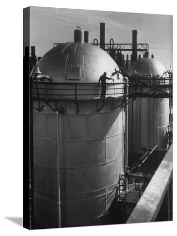 View of an Installation at a Texaco Oil Refinery-Margaret Bourke-White-Stretched Canvas Print
