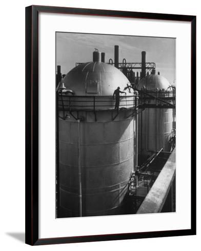 View of an Installation at a Texaco Oil Refinery-Margaret Bourke-White-Framed Art Print
