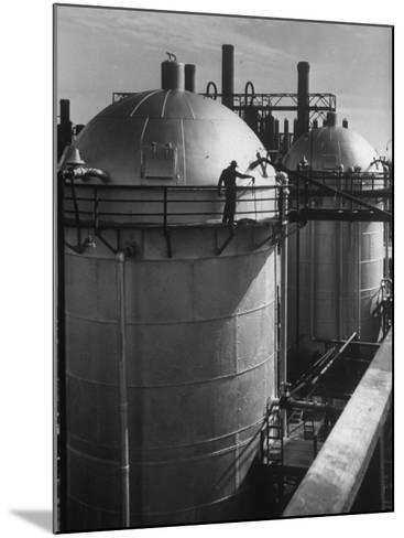View of an Installation at a Texaco Oil Refinery-Margaret Bourke-White-Mounted Photographic Print
