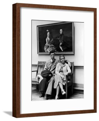 Charles Pope, Track Star and Student Council President Sitting with Katherine Winne-Alfred Eisenstaedt-Framed Art Print