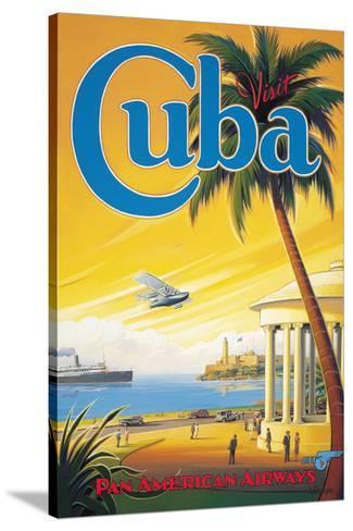 Visit Cuba-Kerne Erickson-Stretched Canvas Print