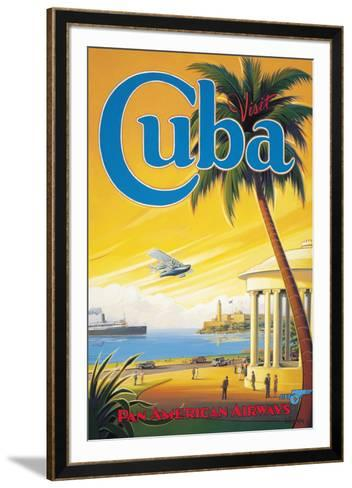 Visit Cuba-Kerne Erickson-Framed Art Print