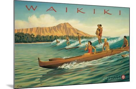 Waikiki-Kerne Erickson-Mounted Giclee Print