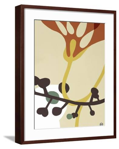 Dancing Flowers V-Mary Calkins-Framed Art Print