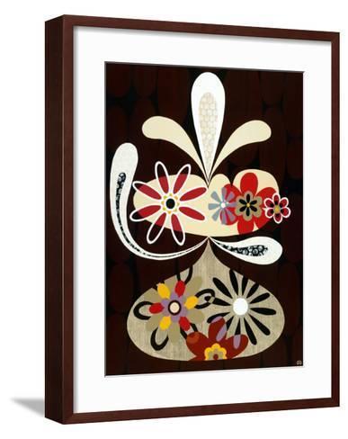 Flowers in Flight I-Mary Calkins-Framed Art Print