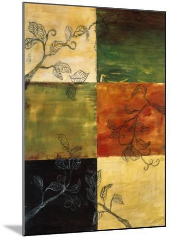 Garden Vines II-Ellen Traub-Mounted Premium Giclee Print
