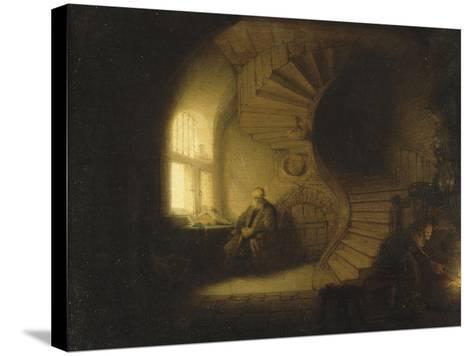 Philosophe en méditation-Rembrandt van Rijn-Stretched Canvas Print