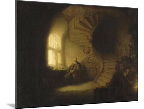 Philosophe en méditation-Rembrandt van Rijn-Mounted Giclee Print