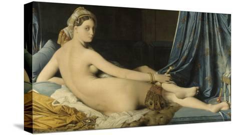 La Grande Odalisque-Jean-Auguste-Dominique Ingres-Stretched Canvas Print