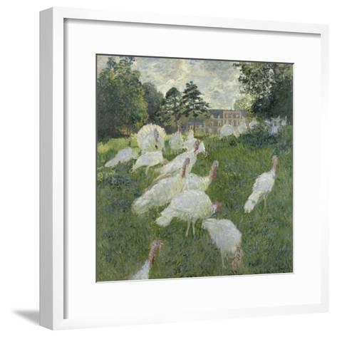 Les dindons-Claude Monet-Framed Art Print