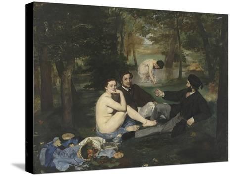 Le Déjeuner sur l'herbe-Edouard Manet-Stretched Canvas Print