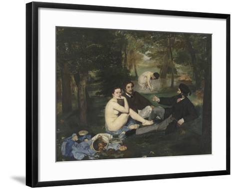 Le Déjeuner sur l'herbe-Edouard Manet-Framed Art Print