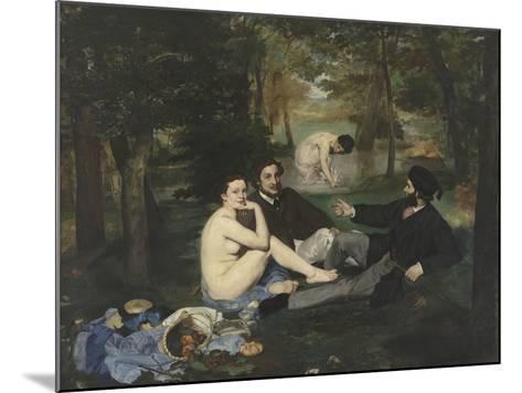 Le Déjeuner sur l'herbe-Edouard Manet-Mounted Giclee Print