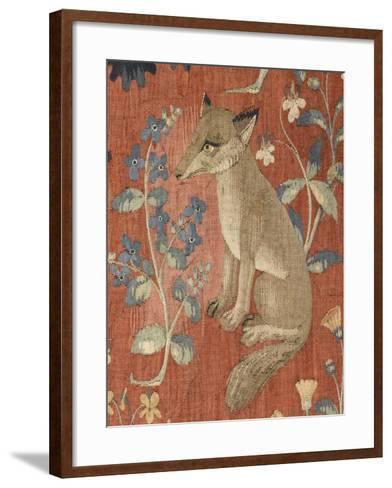 Tenture de la Dame à la Licorne : Le Goût--Framed Art Print