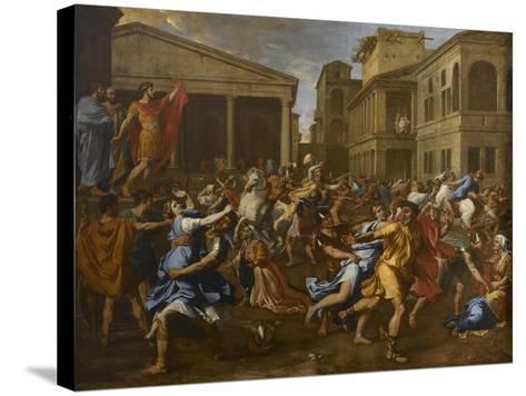 L'enlèvement des Sabines-Nicolas Poussin-Stretched Canvas Print