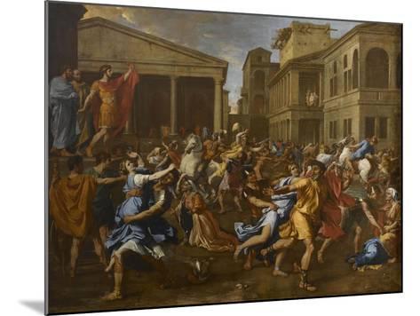 L'enlèvement des Sabines-Nicolas Poussin-Mounted Giclee Print