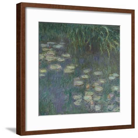 Les Nymphéas : Matin-Claude Monet-Framed Art Print