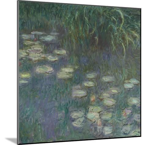 Les Nymphéas : Matin-Claude Monet-Mounted Giclee Print