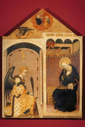 Annunciation-Andrea Di Nerio-Stretched Canvas Print