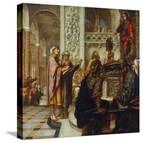 Disputation with the Doctors-Juan de Valdes Leal-Stretched Canvas Print