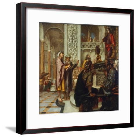 Disputation with the Doctors-Juan de Valdes Leal-Framed Art Print