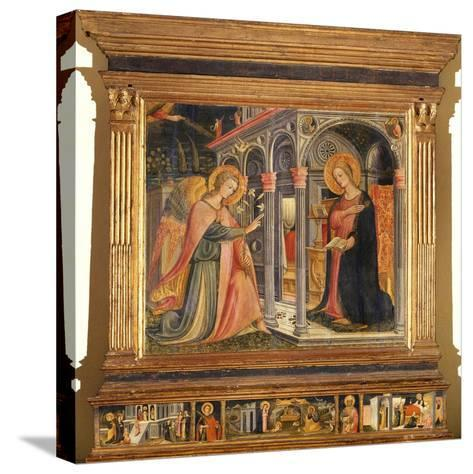 Annunciation- Master of Signa-Stretched Canvas Print