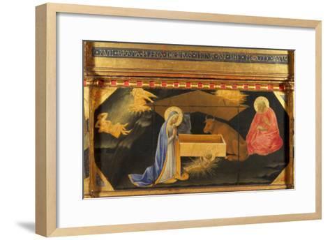 Polyptych, Predella, Nativity-Andrea Di Gusto-Framed Art Print