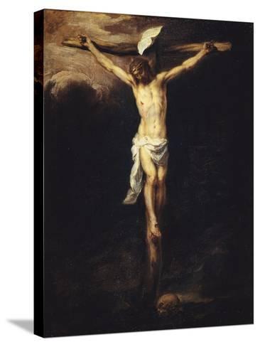 Christ Crucified-Bartolome Esteban Murillo-Stretched Canvas Print