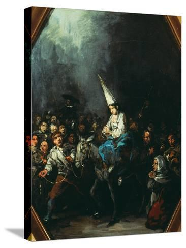 A Woman Condemned by the Inquisition-Eugenio Lucas y Padilla-Stretched Canvas Print