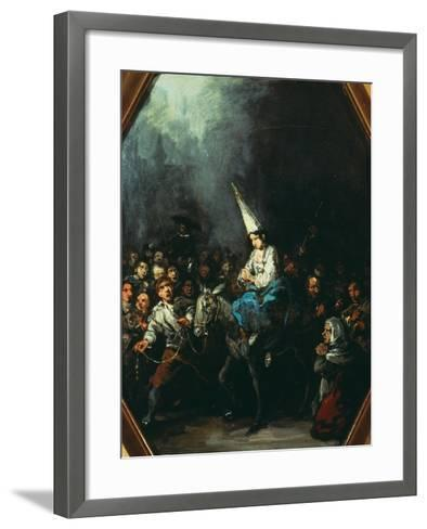A Woman Condemned by the Inquisition-Eugenio Lucas y Padilla-Framed Art Print