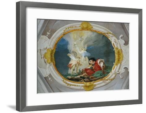 Jacob and the Vision of the Heavenly Ladder-Giambattista Tiepolo-Framed Art Print